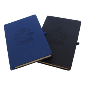 RCAM Notebooks with Embossed Corps Badge